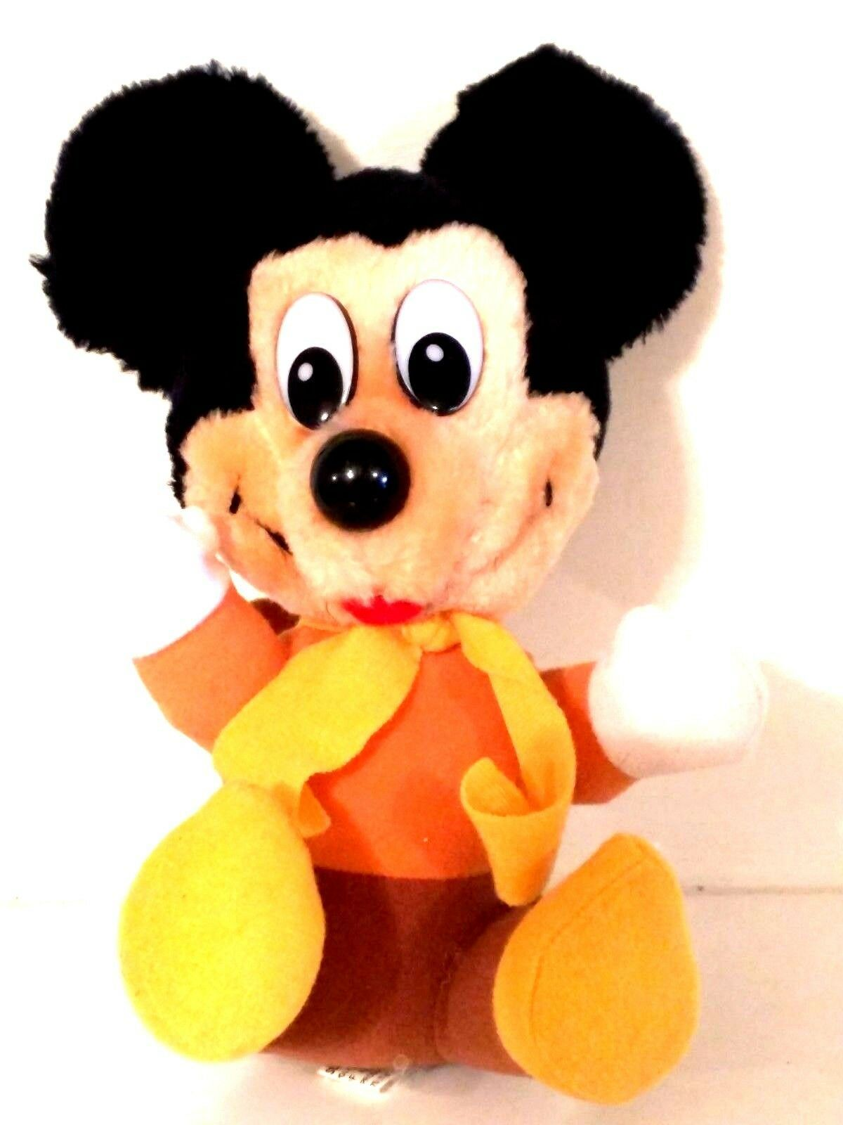 VINTAGE DISNEY - Mickey Mouse Christmas Carol Plush Stuffed Animal - 8 inches - $13.85