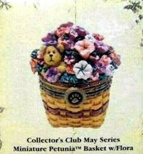 "Boyds Treasure Box ""Petunia Basket"" #392168LB- May Series- Longaberger LE- NEW"