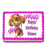 PAW PATROL SKYE edible party cake topper decoration frosting sheet image - $7.80