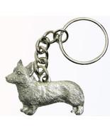 Corgi Pembroke Dog Keychain Keyring Harris Pewter Made USA Key Chain Ring - $9.48