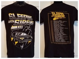 SLEEPING WITH SIRENS BAND 2015 CONCERT TOUR DELOREAN GRAPHIC T-SHIRT SIZ... - $17.81