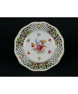 Schumann Reticulated Chateau Dresden w Iris Dinner Plate, Vintage Pierce... - $58.80
