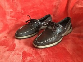 Sperry Top Sider Womens Size 8M Brown Boat Shoes Loafers 2 Eye Leather - $24.74