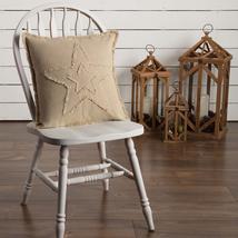 """Burlap Vintage Star - Farmhouse Pillow - 18x18"""" - VHC Brands"""
