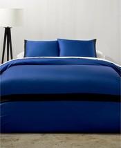 Calvin Klein Joan 3P Cobalt Blue Black King duvet cover shams $250 - $164.85