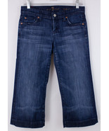 7 For All Mankind Crop Dojo Capri Jeans Shorts Women's 26 Denim USA - $21.55