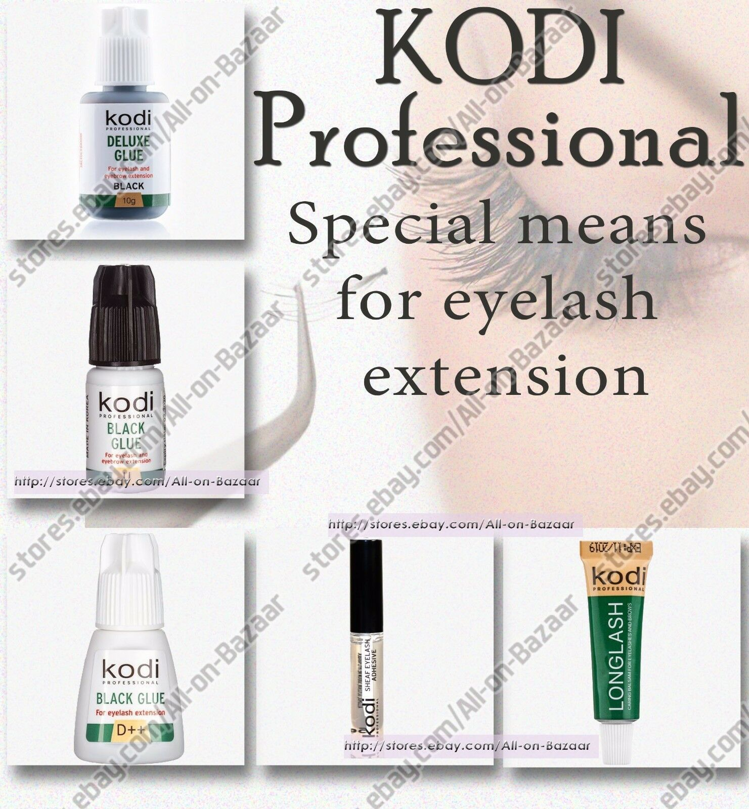 Primary image for NEW! Kodi professional  glue | primer | balm | remover | for eyelash extension