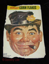 Kelloggs Corn Flakes Dusty Rusty Mask Cereal Box Back 1950s - $16.99