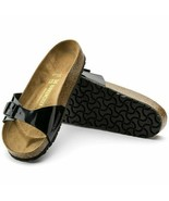 Birkenstock Womens Madrid Birko Flor Patent Black Eva Comfort Sandals 00... - £79.70 GBP