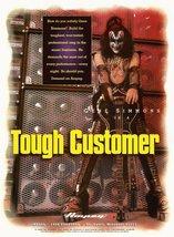"Gene Simmons KISS Band 18 x 25 Ampeg Bass Amps ""Tough Customer"" Poster - $35.00"