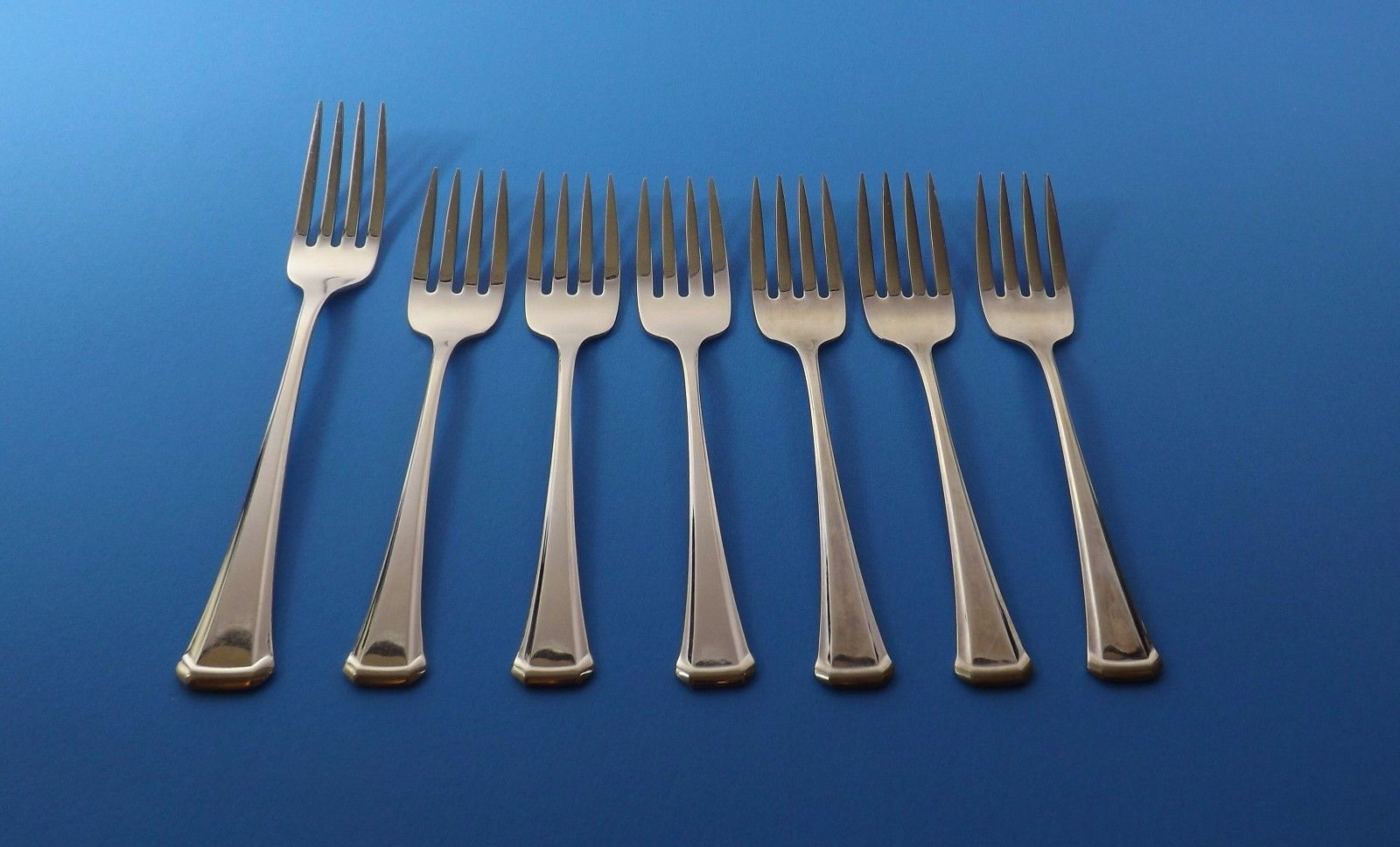 """NATIONAL Stainless BELL WOOD pattern Salad Fork 6-3//8/"""""""