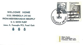 "DENEBOLA (AF-56) 5 Sept 1974 Locy Type 2 (n+) Nicholson ""Welcome Home"" C... - $3.47"