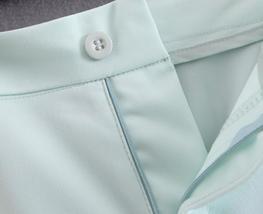 Light Mint Green Notched Collar Single Button Fashion Blazer Jacket Suit Set Wea image 3