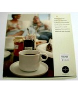 NEW Sagaform Coffee Cup With Saucer White - $9.75