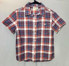 Cherokee Boys Button Down Plaid Shirt, Medium - $5.94