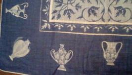 Faith Austin Handkerchief EUC Blue Urn Print image 2