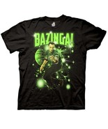 The Big Bang Theory Sheldon Figure In the Stars Bazinga! T-Shirt, NEW UN... - $19.34
