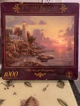 Thomas Kinkade Painter of Light The Sea of Tranquility Jigsaw Puzzle Rare Sealed - $22.99