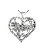 Diamond Heart Pendant 35 Diamonds  natural untreated 1/2 carat MOTHER'S DAY - $127.59