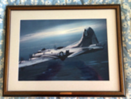 Framed photograph of a B-17 Flying Fortress - $40.00