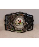 Silver Tone Belt Buckle 1896 Ford Center Gift Collectible - $11.30