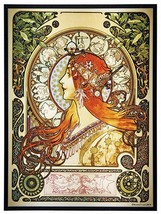 YTC Summit 8561 Mucha Zodiac Art Glass - $87.11