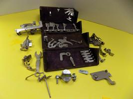 Antique Singer Sewing Machine Folding Oak Puzzle Box Attachments 1889 Vintage - $126.70 CAD