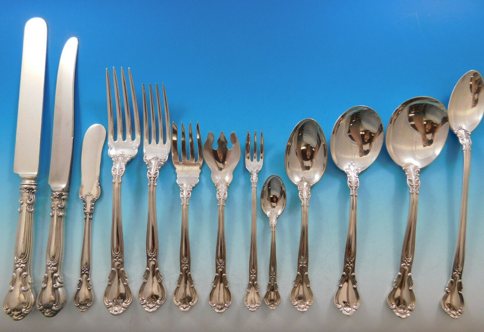 Chantilly by Gorham Sterling Silver Flatware Set for 18 Service 240 pcs Dinner image 2