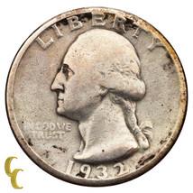 1932-D de Plata Washington Cuarto de 25c (Fine , F Estado) - $119.67