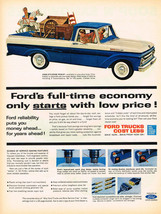 Vintage 1962 Magazine Ad Ford Styleside Pickup & Campbells Soup - $5.93