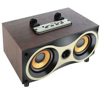 New Wooden Bluetooth Wireless Portable Speaker Stereo Subwoofer For iOS ... - $61.19