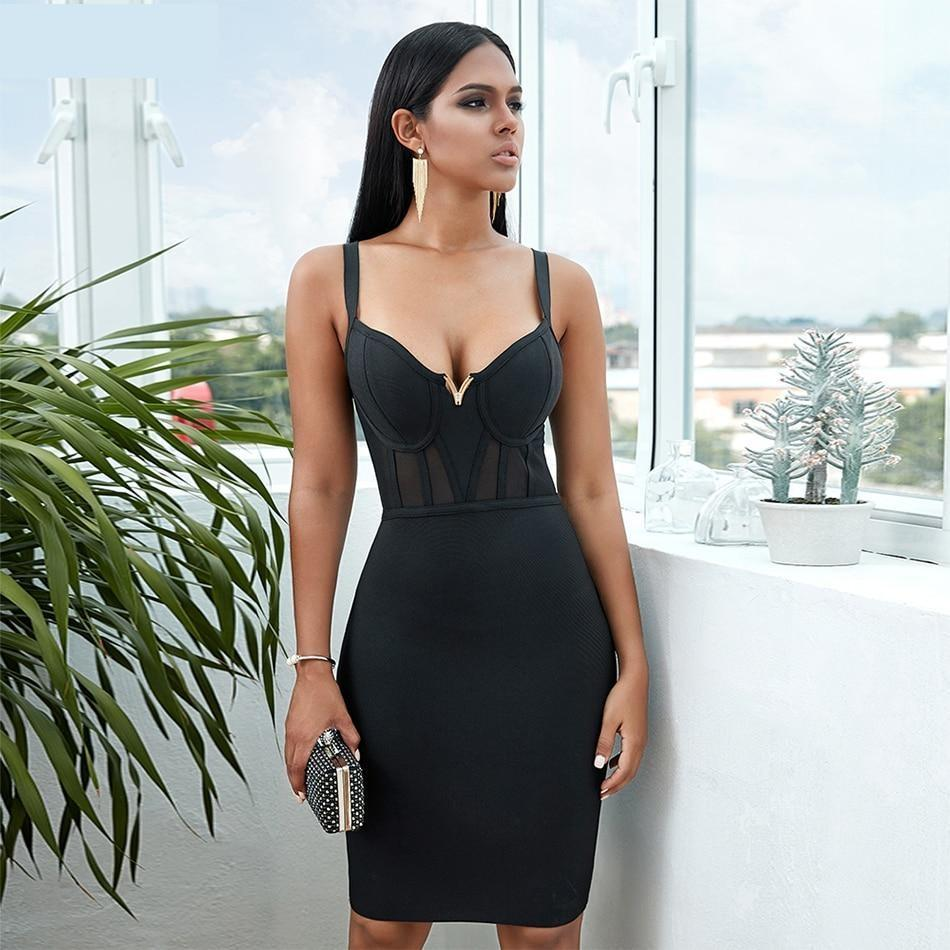 Primary image for Black, Pink or Red Sexy Solid and Lace Bandage Dress
