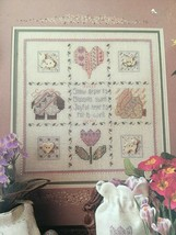 Shepherds Bush Buttoned Hearts Counted Cross Pattern Pamphlet Bunny Sheep - $3.00