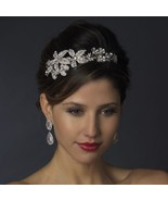 Spring Silver Clear Crystal Butterfly Flower Side Accent Bridal Prom Hea... - €81,38 EUR