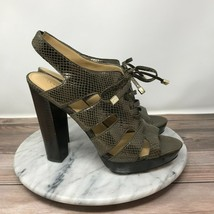 Coach Moreen Womens Size 9.5 Bronze Python Leather Lace Up Platform Heels - $44.95