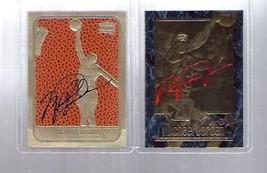 MICHAEL JORDAN 1997 EX-2000 & 1986 ROOKIE 23KT GOLD AUTOGRAPHED 2 CARD LOT - $29.39