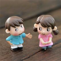 Sweety boy girls lovers gnome moss terrariums resin 2Pcs - $11.95