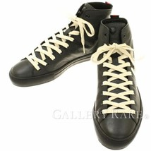81733df4088 GUCCI Sneakers Blind for Love Leather Black x White  7 449992 Authentic .