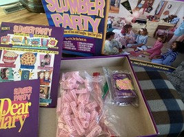 Slumber Party Board Game Fun And Laughs Just For Girls 1990 Cadaco Vintage - $12.00