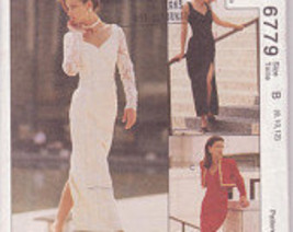 McCall's Pattern 6779 Special Occasion Evening Gown Collection Size 8 10 12 - $15.00