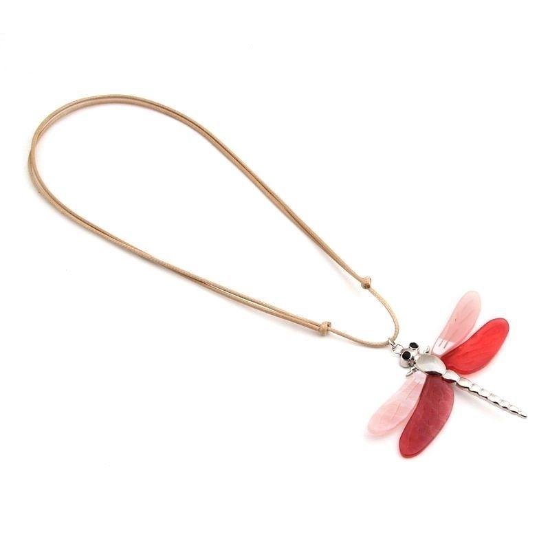 Women Dragonfly Necklace Pendant Zinc Alloy Statement Color Collar Accessories image 5