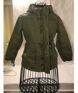 OLD NAVY - Army Jacket Kids Gator Green Sherpa Lining Used - $9.89