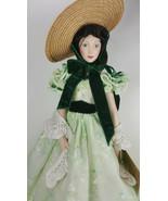 """Vintage 1985 Porcelain Doll SCARLETT O'HARA 19""""  w/Tag Franklin Heirloom... - $39.95"""
