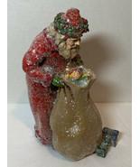 Hallmark Santa Holding A Sack Of Toys Figurine - $19.99