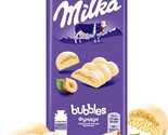 Milka White Chocolate Bubbles with Hazelnuts 14Oz 5 ITEMS Air Chocolate Bars