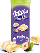 Milka White Chocolate Bubbles with Hazelnuts 14Oz 5 ITEMS Air Chocolate ... - $18.81