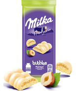 Milka White Chocolate Bubbles with Hazelnuts 14Oz 5 ITEMS Air Chocolate ... - $19.00