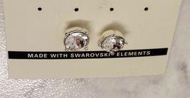 Napier Silver Crystal Rhinestone Round Stud Earrings With Swarovski Elements image 4