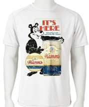 Hamm's Beer Dri Fit graphic Tshirt moisture wicking retro SPF active wear tee image 1