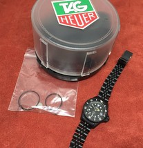 Ladies Vintage Black Coral PVD TAG Heuer Dive Watch 980.025 Submariner B... - $599.99
